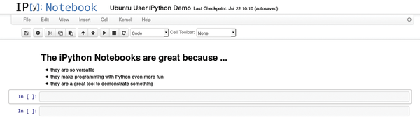 IPython Notebook lets you do more than just program / 26 / 2015