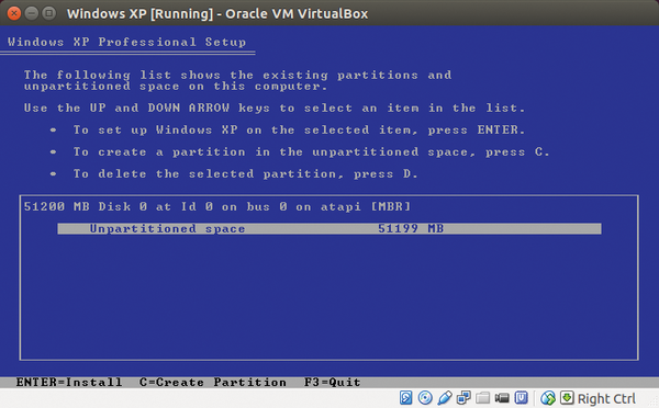 Linux and the virtual Windows XP machine / 27 / 2015