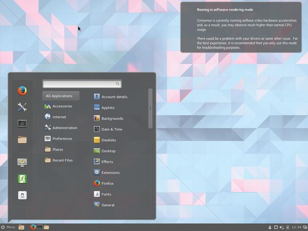 Figure 1: Void Linux Starts Amazingly Fast Even On A Cinnamon Desktop.
