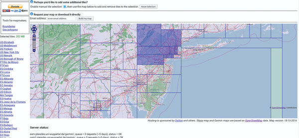 Use OpenStreetMap to create your own Garmin device / 31 / 2016