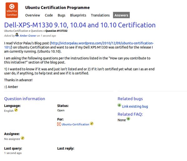 Ubuntu Certified Hardware / Amber Graner: You in Ubuntu